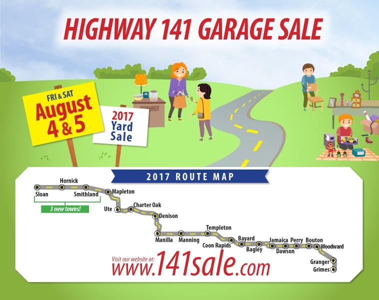 Templeton Iowa Map.Iowa Highway 141 Garage Sale Charter Oak Iowa